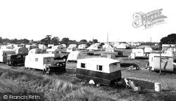Maldon, The Caravans, Mill Beach c.1955