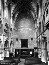Malmesbury, Abbey, Nave East 1924