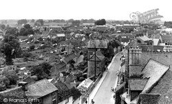 Malmesbury, Abbey Row From The Abbey Roof c.1955