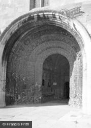 Malmesbury, Abbey, South Porch 1959