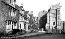 Malmesbury, Abbey, West And The Old Bell c.1960