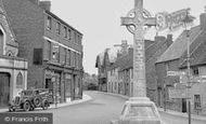 Malmesbury, Memorial and Post Office c1950