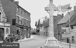 Malmesbury, Memorial And Post Office c.1950