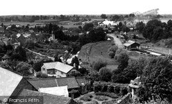 Malmesbury, River Avon And Railway From Abbey Roof c.1955