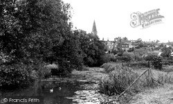 Malmesbury, River Avon From Daniel's Well c.1955