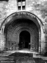 Malmesbury, The Abbey, The South Porch 1924