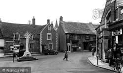 Malmesbury, The Triangle And War Memorial c.1955