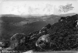 Manaton, From Lustleigh Cleave 1907