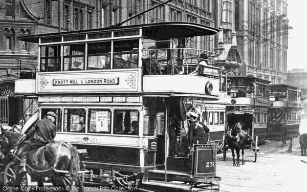 Manchester, A Tram c.1900