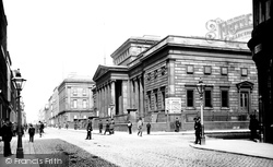 Manchester, Art Gallery And Mosley Street c.1885