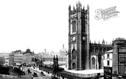 Manchester, Cathedral From Grosvenor Hotel 1889
