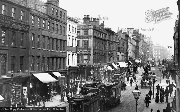 Manchester, Market Street 1889