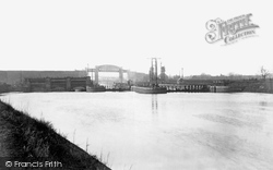 Manchester Ship Canal, Latchford Lock And Bridges 1894