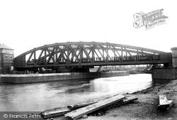Manchester Ship Canal, Trafford Swing Bridge 1894