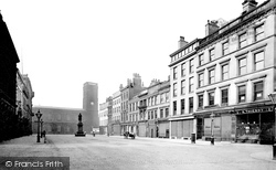 Manchester, St Ann's Square And Church 1886