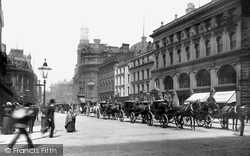 Manchester, St Ann's Square, The Cab Rank 1885