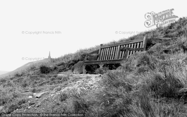 Mankinholes, Arthur N Archer Memorial Seat on the Moor c1955