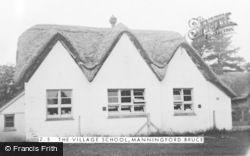 Manningford Bruce, The Village School c.1955
