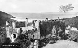 Castle Courtyard c.1955, Manorbier