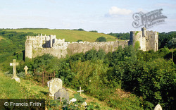 Castle From The Church c.1995, Manorbier