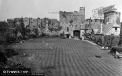 Manorbier, Castle, The Courtyard 1953