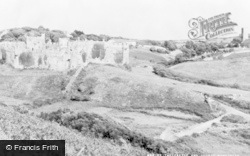 Manorbier, The Castle And Church c.1960