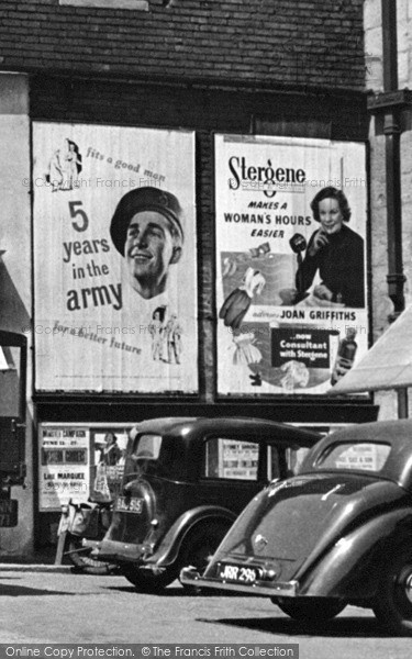 Photo of Mansfield, Advertisements In Toothill Lane 1949