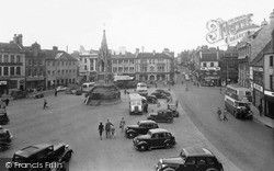 Mansfield, The Market Place c.1955