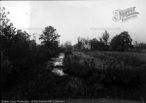 Manton,the Mill Stream and House c1955,Wiltshire