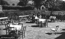 Okeover Hotel Tea Garden c.1955, Mapleton