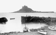 Marazion, St Michael's Mount from the harbour c1960