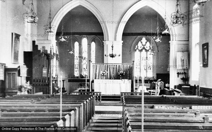 Photo of Marcham, Church Interior c.1960