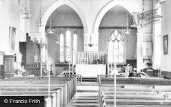 Marcham, Church Interior c.1960