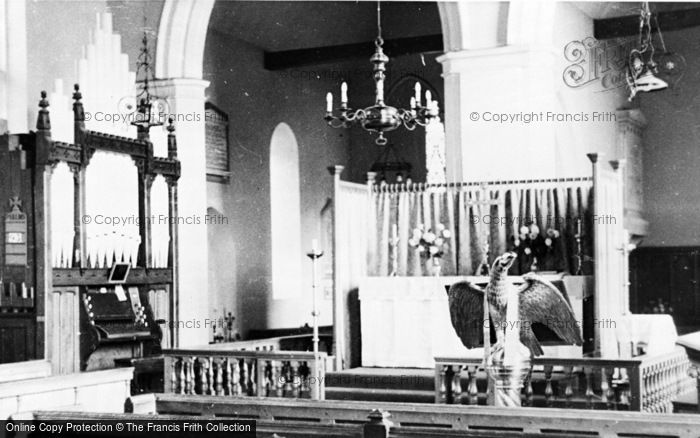 Photo of Marcham, Church Interior c.1960