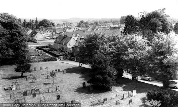 Marcham, view from Church Tower c1965