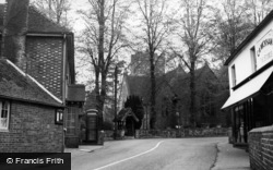 Maresfield, High Street And St Bartholomew's Church c.1950