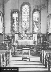 Margam, The Abbey Church  Interior c.1955