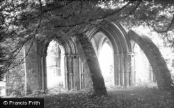 Margam, The Abbey, Flying Buttresses 1949