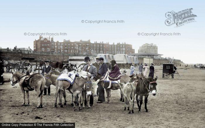 Photo of Margate, Donkeys On The Sands 1906