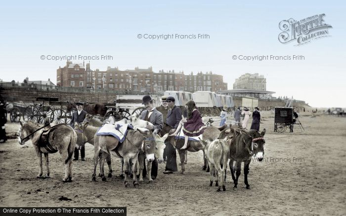 Margate, Donkeys On The Sands 1906
