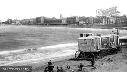 Margate, The Beach And Bathing Machines 1887