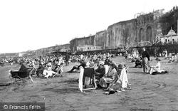The Sands And Pettman's Bathing Platform 1918, Margate