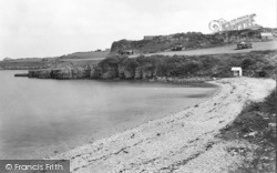 Marian Glas, Dinas Beach And Point c.1950, Marian-Glas