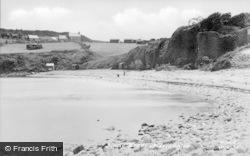 Marian Glas, Dinas Beach c.1955, Marian-Glas
