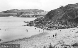 Marian Glas, Traeth Bychan Beach c.1950, Marian-Glas