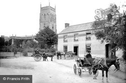 Mark, Pack Horse Hotel And Church 1890