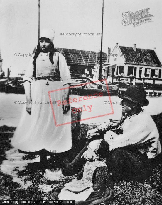 Photo of Marken, Family In Traditional Costume c.1900