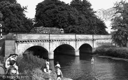 Market Deeping, River Welland c.1955