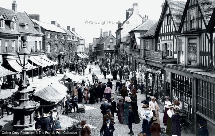 Photo of Market Drayton, Market Day 1911