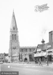 Market Harborough, Grammar School And Church c.1965